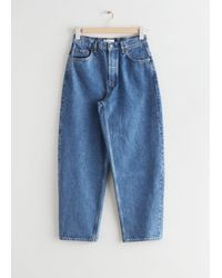 & Other Stories Major Cut Cropped Jeans - Blue