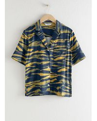 & Other Stories Open Collar Relaxed Shirt - Yellow