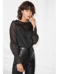 & Other Stories - Trumpet Sleeve Top - Lyst