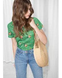 & Other Stories Fitted Tee - Green