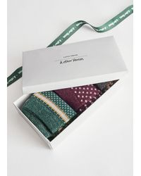 & Other Stories Three Pack Patterned Glitter Socks - Green