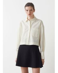& Other Stories Cropped Boxy Linen Shirt - White