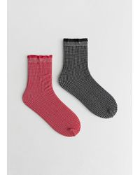 & Other Stories - Set Of Micro Houndstooth Socks - Lyst
