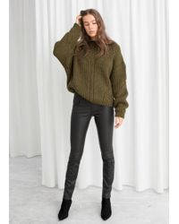 & Other Stories - Leather Trousers - Lyst