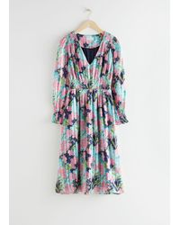 & Other Stories - Pleated Smock Midi Dress - Lyst