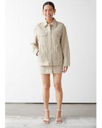 & Other Stories Oversized Denim Jacket - Natural