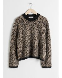 & Other Stories - Leopard Knit Sweater - Lyst