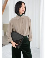 & Other Stories - Pointed Collar Silk Shirt - Lyst
