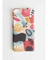& Other Stories Abstract Watercolour Iphone Case - Pink