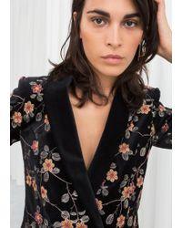 & Other Stories - Floral Embroidered Velvet Blazer - Lyst