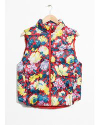 & Other Stories - Floral Print Padded Vest - Lyst