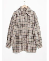 & Other Stories Oversized Coat - Multicolour