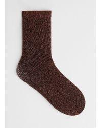 & Other Stories - Glitter Fishnet Socks - Lyst