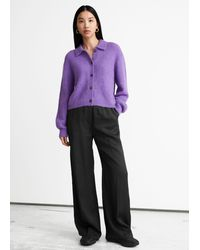 & Other Stories - Wide Flared Press Crease Trousers - Lyst