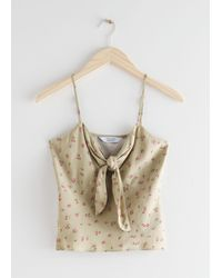 & Other Stories - Front Tie Top - Lyst
