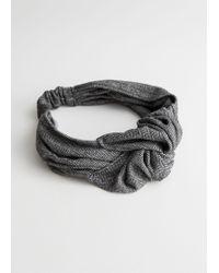 & Other Stories - Herringbone Knot Headband - Lyst