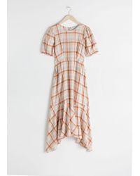 & Other Stories - Cotton Blend Handkerchief Midi Dress - Lyst