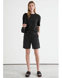 & Other Stories Relaxed Drawstring Shorts - Black