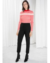 & Other Stories - Slim Fit Tailored Trousers - Lyst