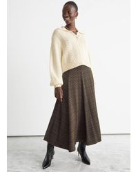 & Other Stories Printed Maxi Skirt - Black