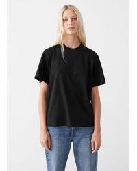 & Other Stories T-Shirt Aus Baumwolle - Schwarz