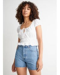 & Other Stories Forever Cut Denim Shorts - Blue