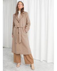 & Other Stories - Oversized Alpaca Blend Coat - Lyst