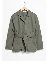 & Other Stories - Belted Army Jacket - Lyst