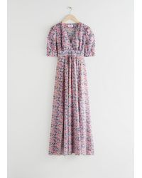 & Other Stories Floral Print Maxi Dress - Pink
