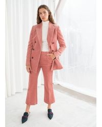 & Other Stories - Cropped Wide Corduroy Trousers - Lyst