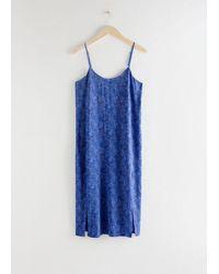 & Other Stories Slip Dress - Blue