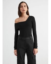 & Other Stories One Sleeve Top - Black