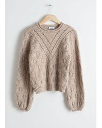 & Other Stories - Wool Blend Puff Sleeve Jumper - Lyst