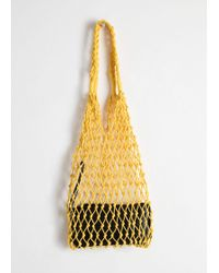& Other Stories - Woven Net Bag - Lyst