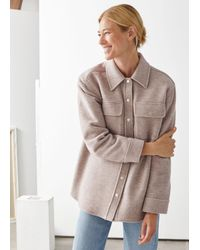 & Other Stories Oversize-Workwear-Hemd Aus Woll-Mix - Mehrfarbig