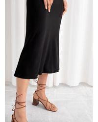 & Other Stories Stretch Midi Skirt - Black