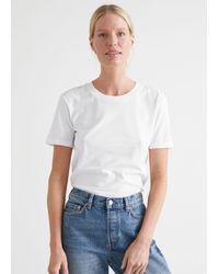 & Other Stories Cotton T-shirt - White