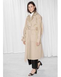 & Other Stories - Oversized Trench Coat - Lyst