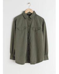 & Other Stories - Boyfriend Fit Workwear Shirt - Lyst