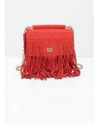 & Other Stories - Suede Fringe Crossbody Bag - Lyst