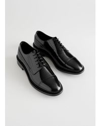 a0443e40a1a   Other Stories Pointed Slingback Oxfords in Black - Lyst