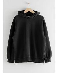 & Other Stories Oversized Hooded Sweatshirt - Black