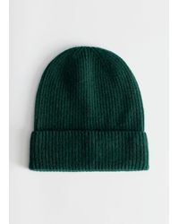 & Other Stories Soft Cashmere Knit Beanie - Green