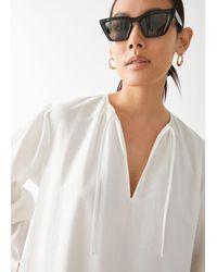 & Other Stories Voluminous Maxi Dress - White