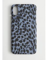& Other Stories Leopard Print Iphone Case - Blue