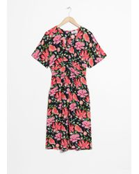 & Other Stories - Peony Print Dress - Lyst
