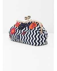 & Other Stories - Leather Flower Clutch - Lyst