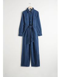 d6c98fa2285 Other Stories - Denim Overall Jumpsuit - Lyst