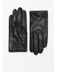 & Other Stories - Overlapping Fold Leather Gloves - Lyst