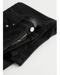 & Other Stories Treasure Cut Cropped Jeans - Black
